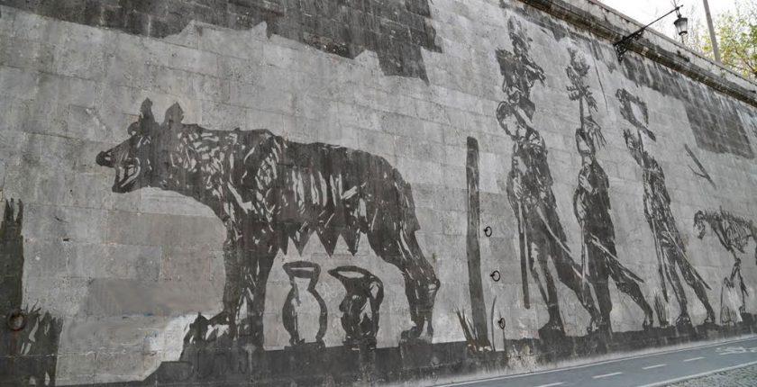 Street art di William Kentridge