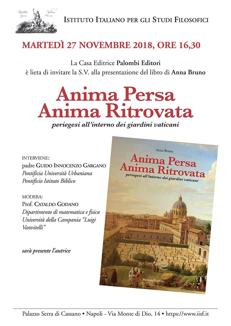 Presentazione libro Anima Persa Anima Ritrovata a Napoli